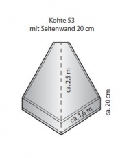 S-Kohte mit 20 cm Seitenrand (Kohte 53)