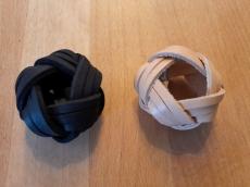 Lederknoten / Halstuchknoten geflochten, schwarz oder natur