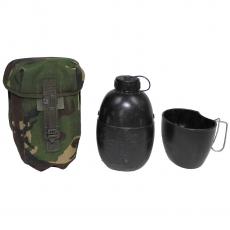 Britische Feldflasche mit Becher und Tasche 1,25 Liter
