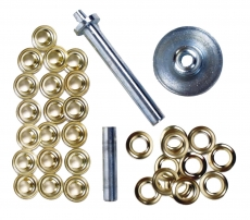 Metallösen mit Werkzeug