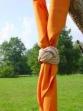 Halstuch orange viereckig