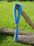 Halstuch kornblumenblau, dreieckig oder viereckig