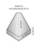 Tortuga S-Kohte S 20/53 mit 20 cm Seitenrand