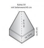 Tortuga Super S-Kohte S 45/59 mit 45 cm Seitenrand