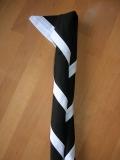 Halstuch schwarz mit weißem Rand