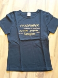 T-Shirt schwarz/orange für Pfadfinderinnen