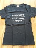 T-Shirt schwarz/grau für Pfadfinderinnen