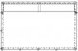 Super-Jurtenrechteckplane XL mit Tüllfenstern