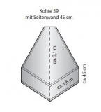 Super S-Kohte mit Seitenstreifen 45 cm (Kohte 59)